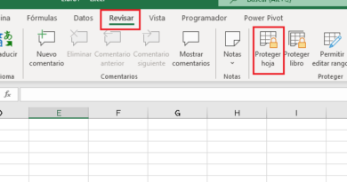 Bloquear hoja en Excel